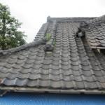 瓦(屋根)修理前の様子①