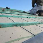 三州瓦の平板瓦に葺き替え