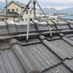 セメント瓦の応急修理①